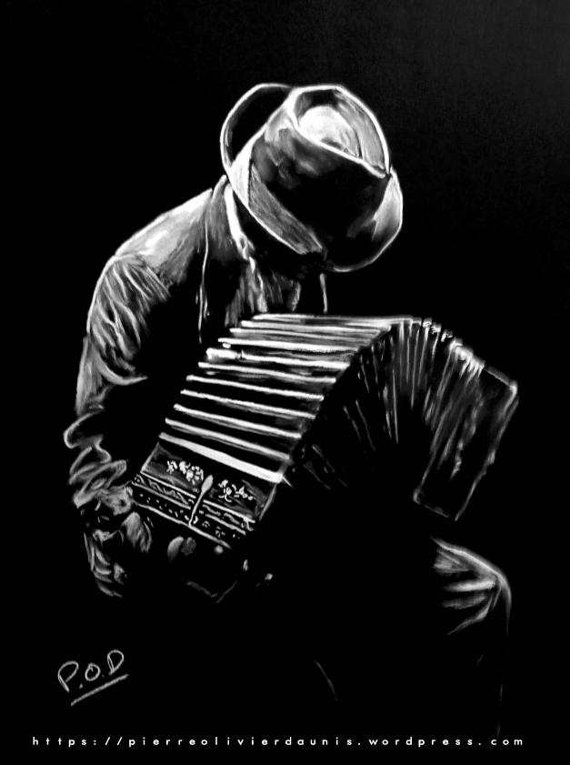 Nouvel musique n°5 – tableaux modernes au pastel sec XE-18